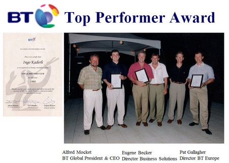 Top Performer / Sales Awards - Ingo Kaderli